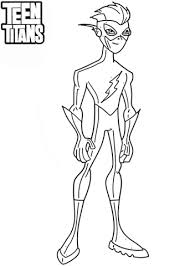 Teen Titans Kid Flash Coloring Page Free Printable Coloring Pages