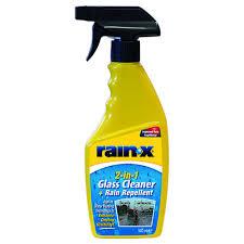 rain x 2 in 1 glass cleaner rain repellent