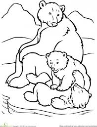 Small Picture Beautiful And Happy Polar Bear Family Coloring Page Animal