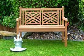oxford teak garden bench 2 seater 1 2m