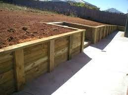 wooden garden retaining wall brilliant