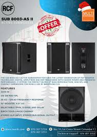 Multi Audio Visual - RCF SUB8003-AS II Active Subwoofer SPECIAL CHRISTMAS  OFFER Valid for 31 December 2019✔️✔️ MULTI AUDIO VISUAL CALL US 0703075750  / 0703075764 / 0703075751