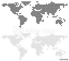 Poster Wereldkaart Foto4art