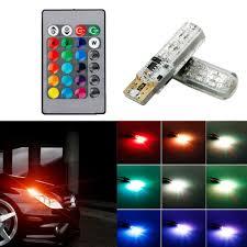 Parking Lights Car Details About Multi Color Rgb 168 194 T10 2825 Led Bulbs Remote Control For Car Parking Lights
