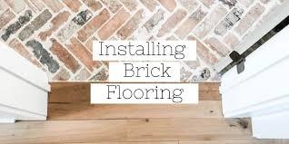 how to install brick flooring brick