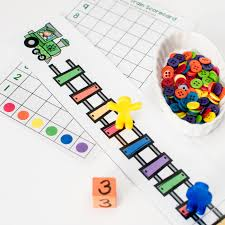 Coloring games for young kids. Free Rainbow Train Preschool Counting Game Stay At Home Educator