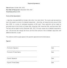 Loan Repayment Contract Free Template Fascinating Template Loan Repayment Form Payment Contract Free Personal Employee