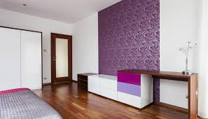 Purple Feature Wall Bedroom Purple Wallpaper Feature Wall Living Room Yes Yes Go
