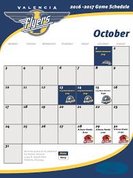 flyers scheduule valencia flyers schedule 2016 2017 season schedule