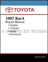 1997 Toyota RAV4 Repair Shop Manual Factory Reprint