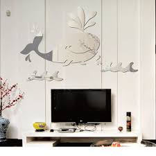 1pc mirror sliver cartoon whale 3d mirror wall stickers diy wall art stickers for kids room on 3d mirror wall art stickers with 1pc mirror sliver cartoon whale 3d mirror wall stickers diy wall art