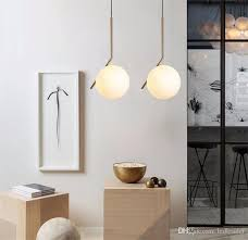 l15 modern minimalist pendant light lamp nordic glass ball lamp home clothing ceiling decoration for living room bedroom dining room glass light pendants