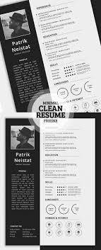 Free Simple Resume Template Print Ready Designs Pinterest