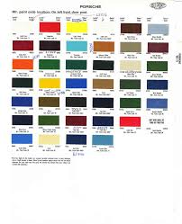 Porsche Colors Car Paint Colors Car Painting Paint Code