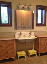 Cabinet And Lighting Featured Customer Vintage Vanity Lights Add Retro Spin To Kids39 With Bathroom Cabinet And Lighting Remodeling I