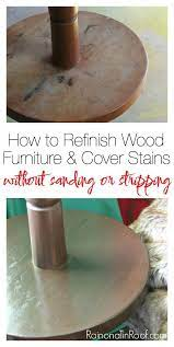 how to refinish wood furniture and