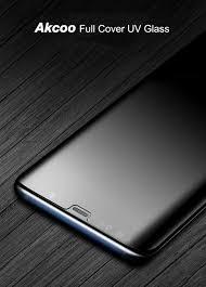 Akcoo Note 8 screen protector UV <b>Full Glue</b> Tempered <b>Glass</b> for ...
