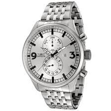 up to 92% off men s invicta watch groupon goods men s invicta ii silver dial stainless steel