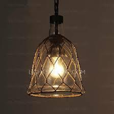 classic old school model hand blown glass mini pendant lights web metal housing basic bulb type