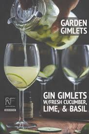 whip up a batch of garden gimlets gin gimlet w fresh cuber lime basil gin tails cuber lime drinks basil shakennotstirred