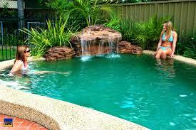 cool the swimming pool waterfalls universal rocks full size