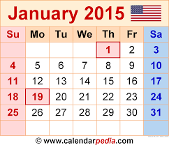 calendars monthly 2015 january 2015 calendars for word excel pdf