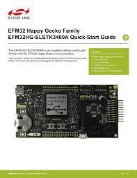 An0002 Efm32 Hardware Design Considerations Efm32 Happy Gecko Family Efm32hg Slstk3400a Quick Start