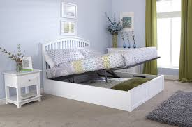 Ottoman Bedroom 46 Double Wooden Curved Ottoman Low End Bed Frame In White One