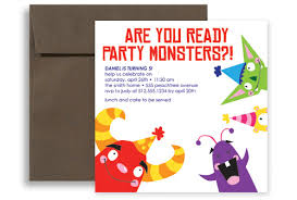 free birthday invitation template for kids monster birthday party invitations free bridg me