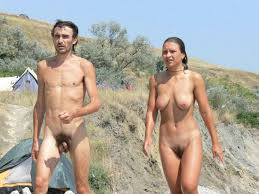 Nude young couples on beach pics