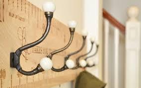 Wooden Ruler Coat Racks