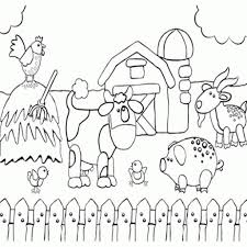 Farm Animal Coloring Pages For Toddlers 7 S Barnyard Animals Free