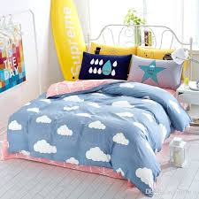 cloud bedding set cartoon clouds printed twin queen king size cotton kids bedding set clouds bedding