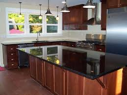 kitchen ideas with black countertops quartz