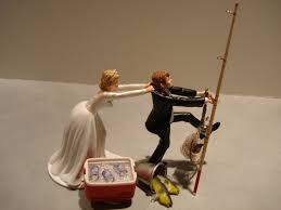 Fish Fishing Wedding Cake Topper Not Anytime Soon But How Funny