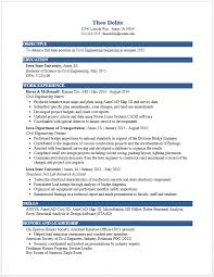 Industrial Engineer Resume New Section Inspiration Example Resumes Engineering Career Services Iowa State University
