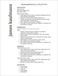 Excellent Resume Format Top Resume Templates Including Word