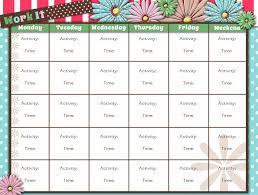 Printable Workout Calendar Activity Shelter