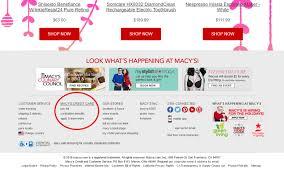 macy s credit card login