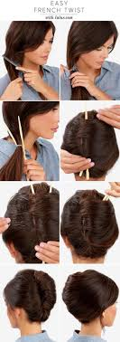 How To Make A Hair Style make a french twist hairstyle using chopsticks alldaychic 7575 by wearticles.com