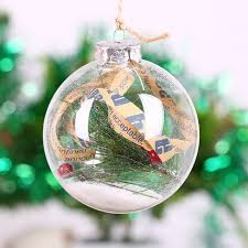 Decorate Clear Glass Christmas Balls