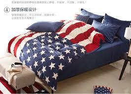 American Flag Velvet Bedding forter Set Queen Size Duvet Cover