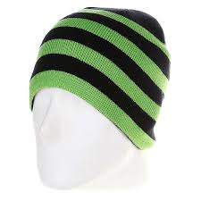<b>Шапка</b> мужская <b>Urban Classics 2</b> Stripe Beanie Black/Lime Green ...