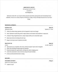 Administrative Resume Templates Simple Free Download Sample 28 Executive Administrative Assistant Resume