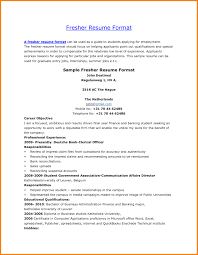 Mca Fresher Resume Sample Format Inspirational For Freshers Free