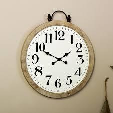 large rustic pocket watch wall clock