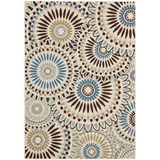 safavieh veranda cream blue 7 ft x 10 ft indoor outdoor area