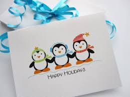 Christmas Cards - 6 Adorable Penguin Christmas Cards A316 ...