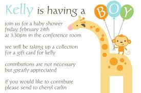Office Baby Shower Invite Office Baby Shower Invitation Wording Giraffe Little Monkey
