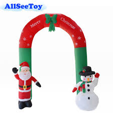 <b>Inflatable Santa</b> Claus Snowman 2.4m High Inflatable Archway for ...